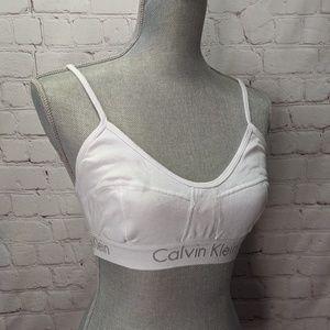 Calvin Klein white cotton bralette